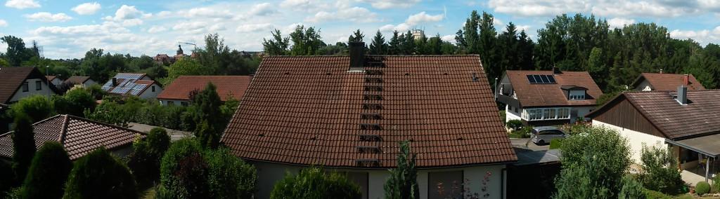 Aussicht aus den Schlafzimmern | Richtung Innenstadt Neuenstein